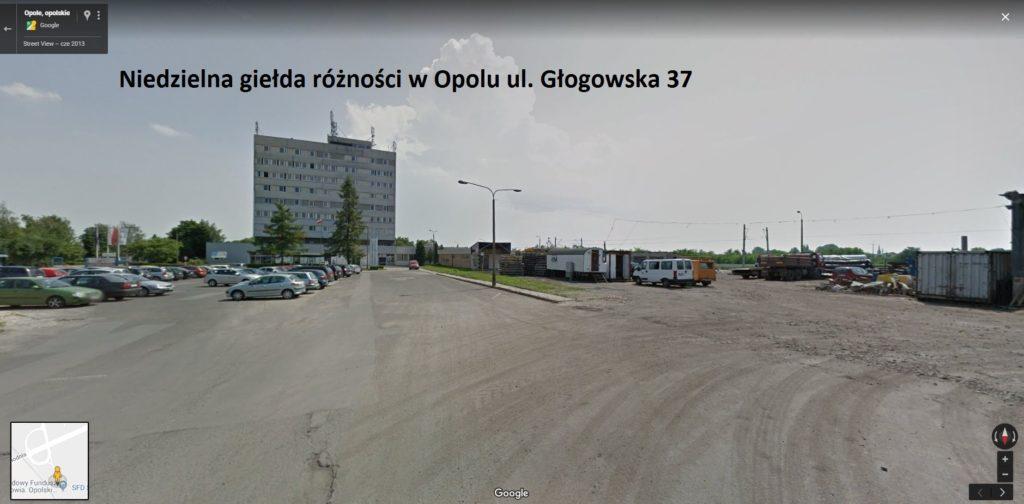 Niedzielna giełda różności w Opolu ul. Głogowska 37